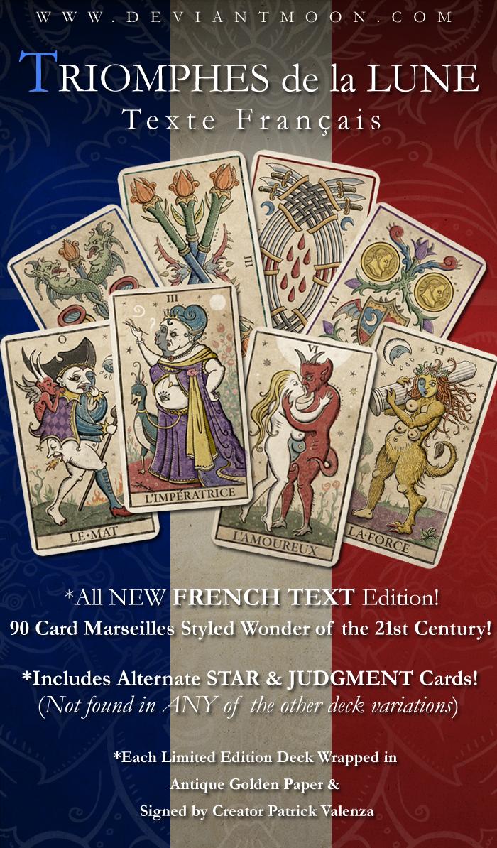 Trionfi Cards: TRIOMPHES De La LUNE (French Text Edition) Valenza TAROT